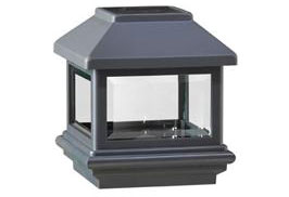 Veranda 4x4 solar post light, antique black for privacy fence and double gate