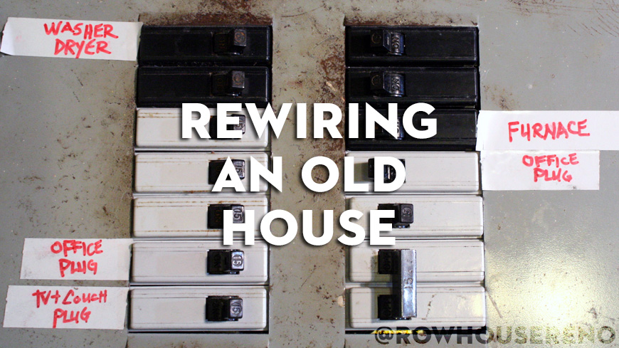 rewiring an house row house reno