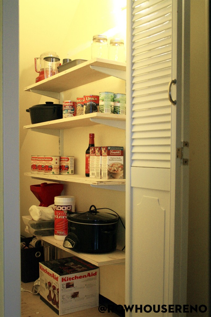 Diy Pantry Shelves Row House Reno